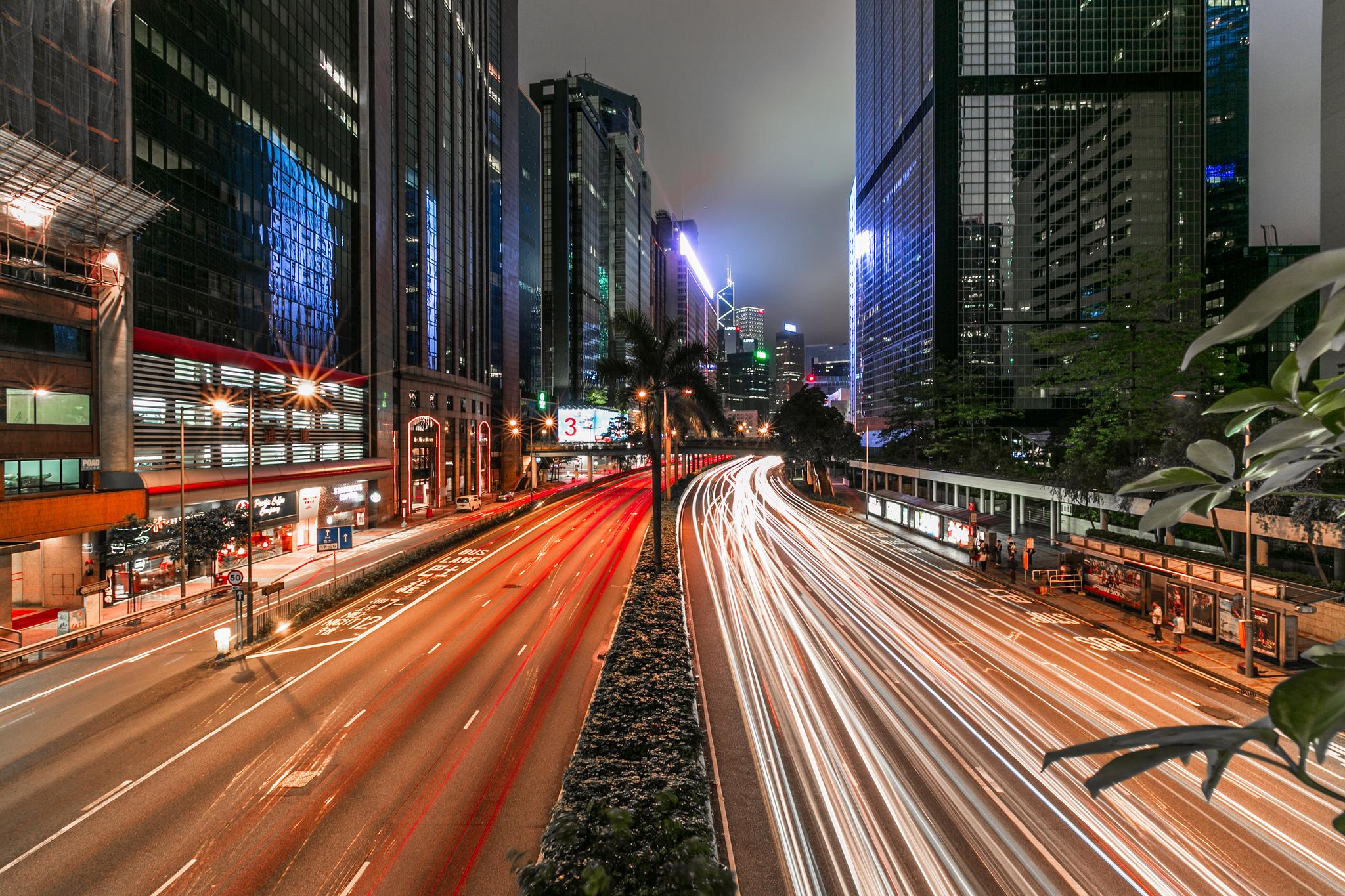 Langzeitbelichtung Straße